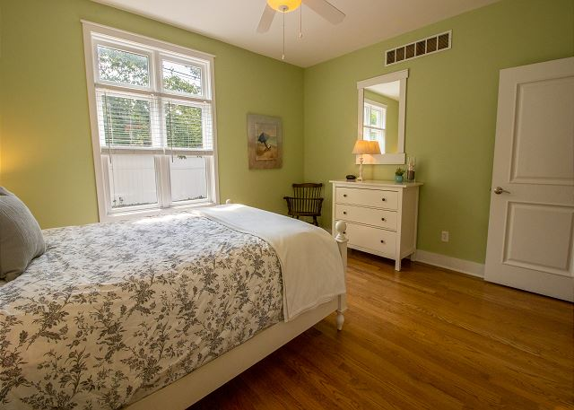 Main level bedroom #1 - Queen with attached 3/4 bathroom