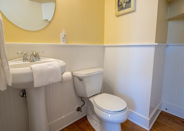 Guest house main level powder room