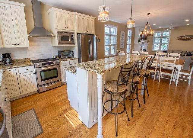 Main level full kitchen bar seating