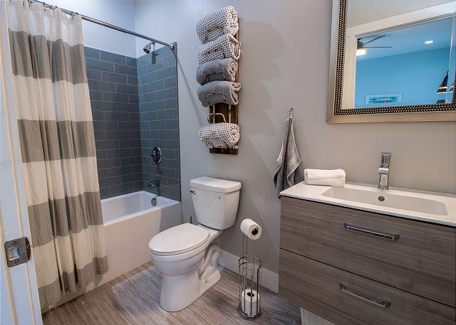 Main level attached full bathroom