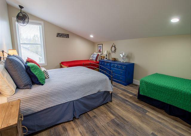 Second Floor Bedroom 4: 2 Twins and 1 Queen