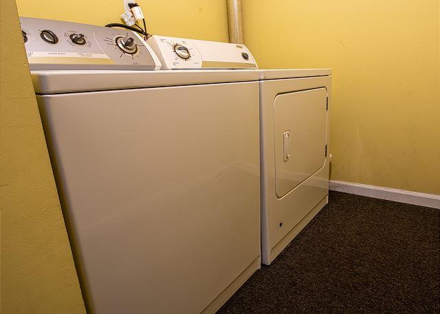 Basement laundry room