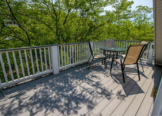 Third level front private deck