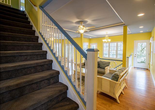 Main level stairs to third level