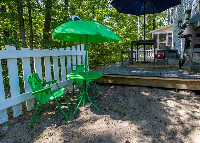 Back deck seating for little ones
