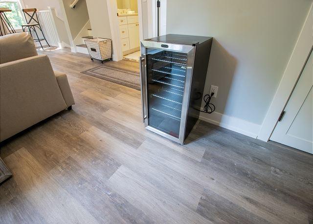 Second level mini fridge