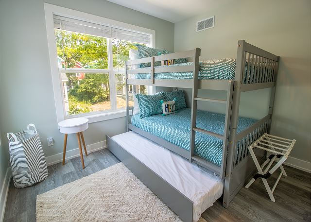 Second level bedroom #3 - full bunk bed with twin trundle