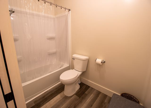Full bathroom with separate shower and toilet
