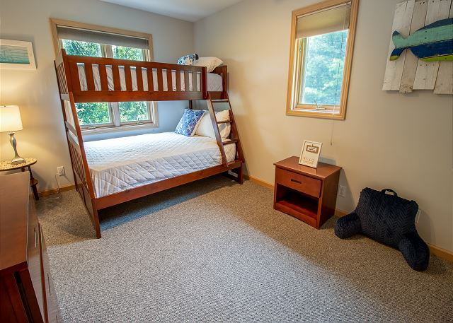 Second level bedroom #2 - twin over full bunk bed