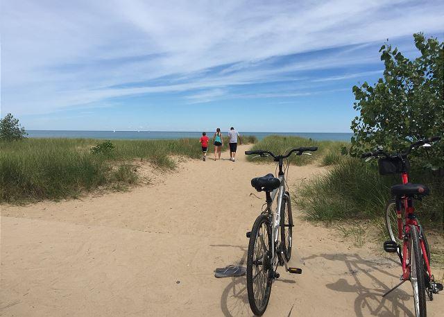 Beach Path Lake Michigan