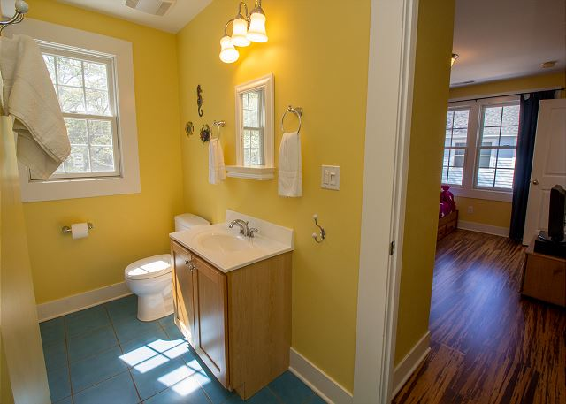 Second floor full bathroom attached bunk room