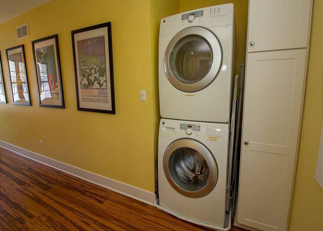 Second floor hallway laundry