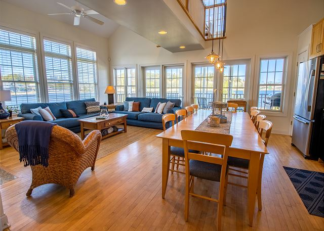 Main Level Living, and Dining room with Full Kitchen