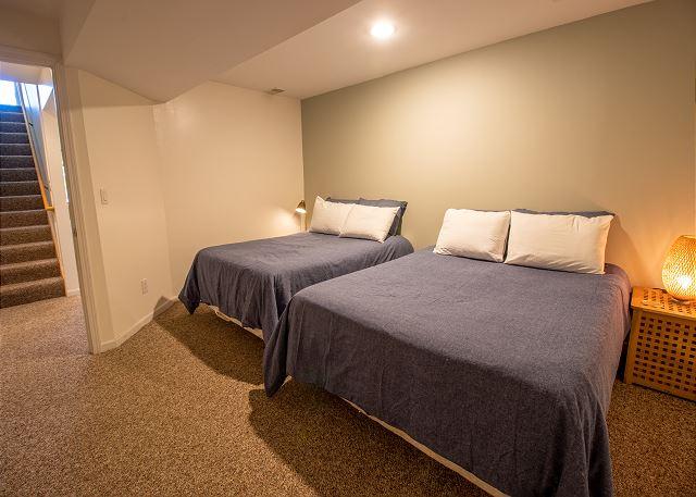 Basement bedroom #4- 1 Queen and 1 Full Bed