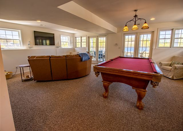 Basement Pool table and Living room