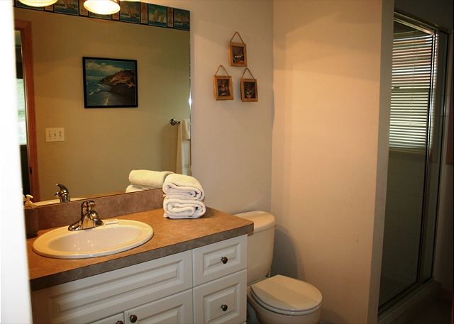 Bathroom attached to 2nd level bedroom