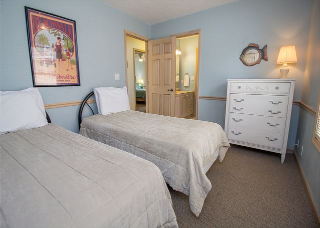 Second Floor Twin bedroom with a shared jack and jill full bath