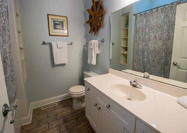 Main level bedroom #1 - attached full bathroom