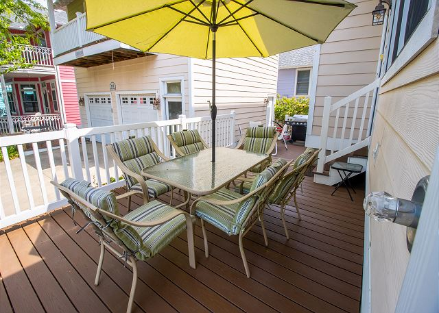 Back deck dining