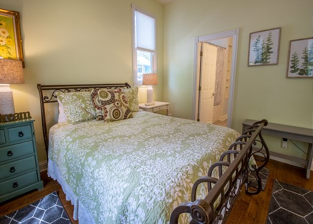 Main level bedroom #1 -  Queen with a attached full bathroom