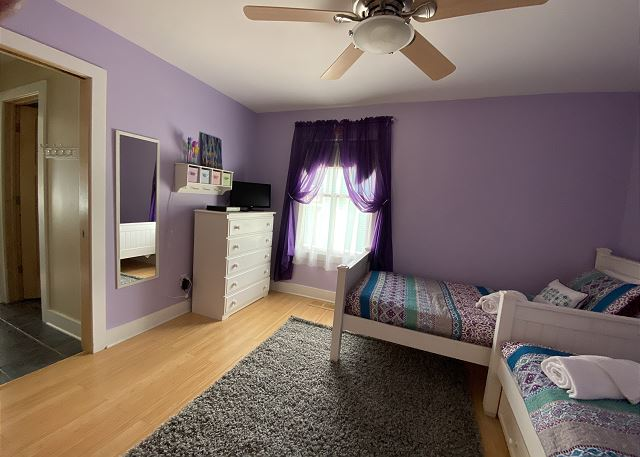 Second floor twin room with a trundle