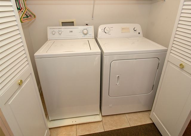 Washer and dryer in basement