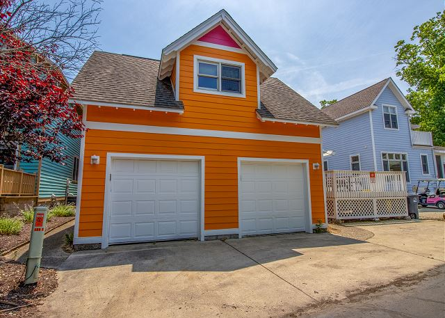 Double garage with parking