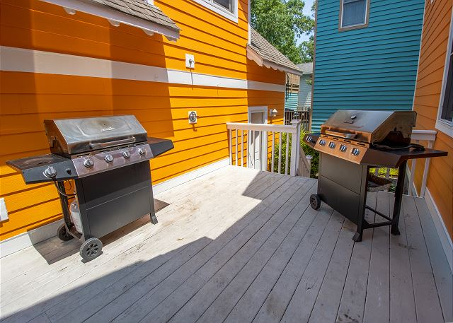 Back deck 2 propane grills