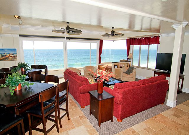 Carlsbad Beach Rental Living Room And Dining Room