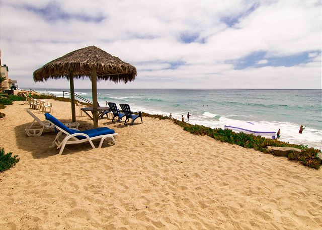 Private Beach Area - Oceanside Vacation Rental Condo