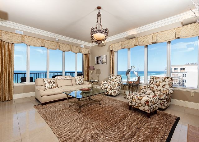 BOTH CORNERS of the 5th floor are yours in SouthBeach501-these are your WEST and SOUTH corner views of the Gulf of Mexico