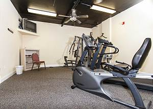 Islander has a workout room available for its guest!