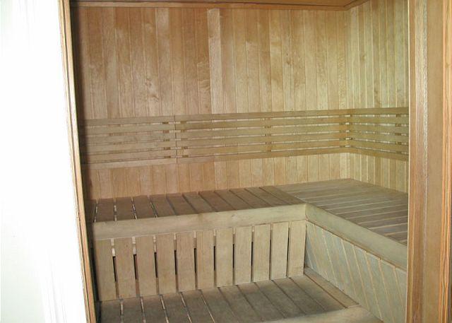 Crystal Shores West sauna.
