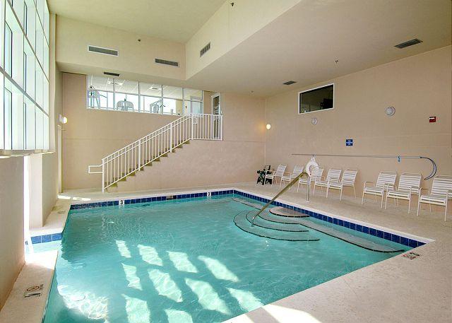 Indoor pool area - has swim-thru to outdoor pool area.