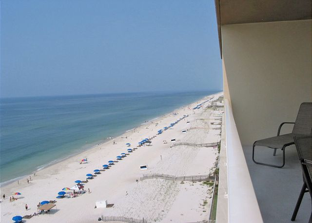 Balcony view to west.