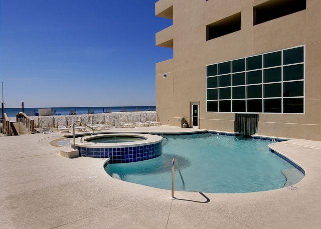 Outdoor Pool - has swim-thru to indoor pool.