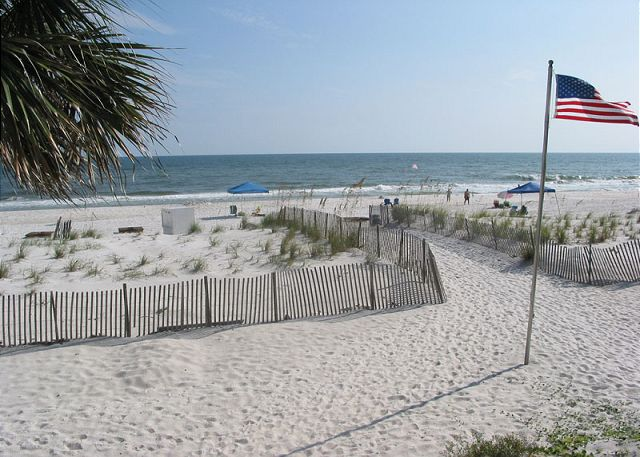 Access beach in front of Sandpiper.