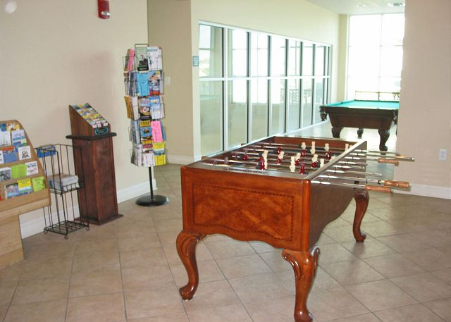 Crystal Shores game room.