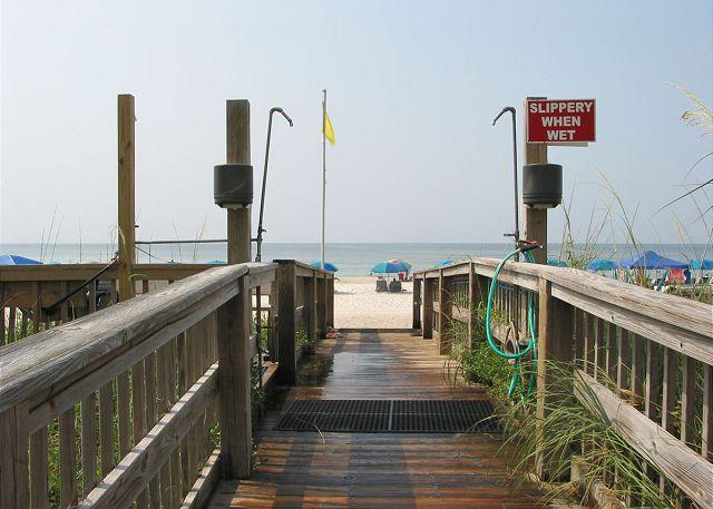 Walkway to beach.