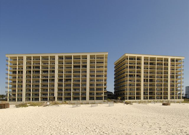 View of The Palms Complex from the Beach.