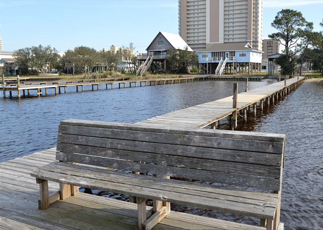 Guests of Gulf Village have access to pier on Lagoon.