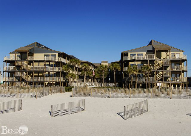 View of Sandpiper Complex Exterior from the Beach.
