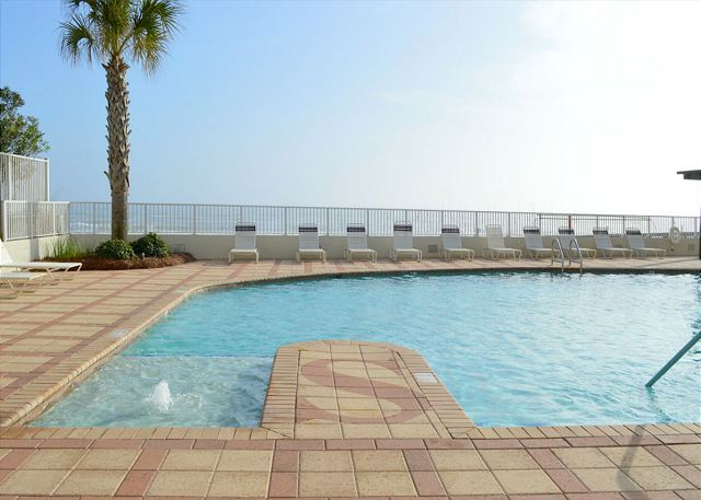 Additional view of outdoor pool area.