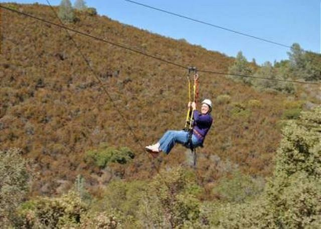 Zipline! Free on your birthday! Moaning Caverns in Murphys