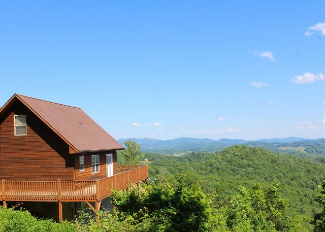 At Above It All enjoy panoramic mountain views