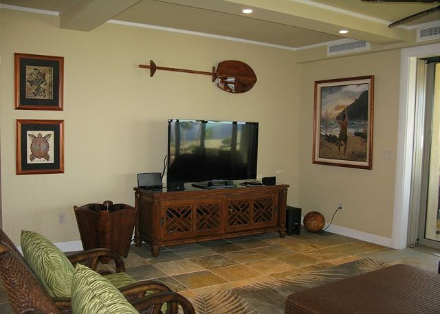 Each bedroom has its own TV in addition to the big screen in the living area.