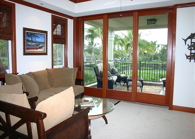 Living Area opens to Lanai
