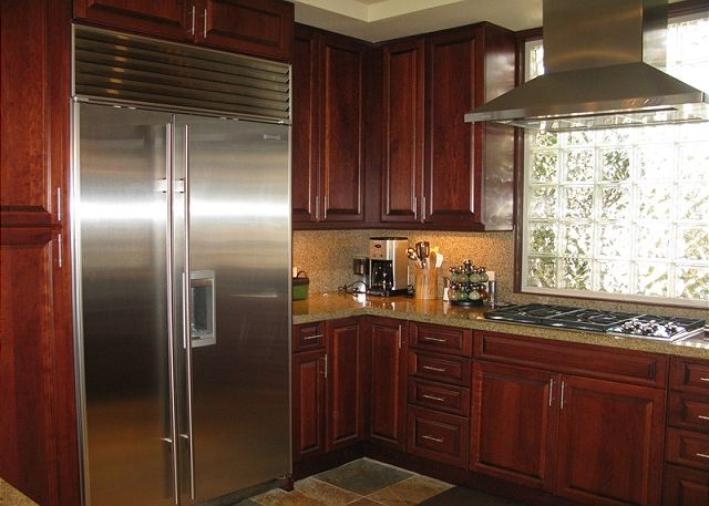 The kitchen is a chef's dream with upscale appliances and is extremely well equipped.