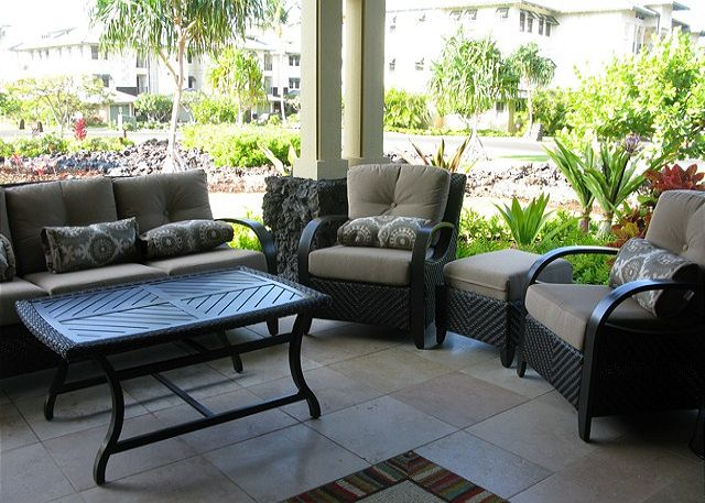 Great Lanai furniture invites you settle in and relax!