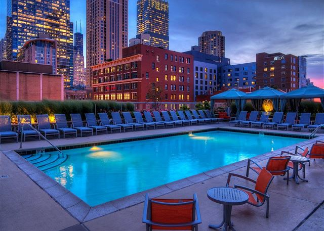 Outdoor Pool overlooking the city